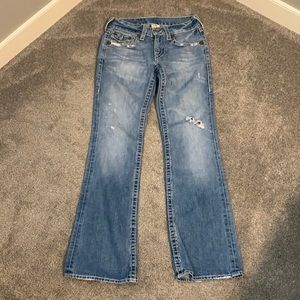Men's Distressed True Religion Jeans
